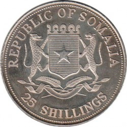 Moneta > 25scellini, 2000 - Somalia  (Icone del millennio - Nelson Mandela) - obverse