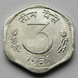 Монета > 3пайса, 1968-1971 - Индия  - reverse