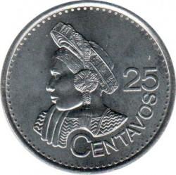 Монета > 25сентавос, 2012-2016 - Гватемала  - reverse