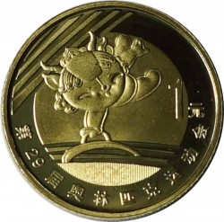 Moneta > 1yuan, 2008 - Cina  (XXIX Giochi olimpici estivi, Pechino 2008 - Ginnastica) - obverse