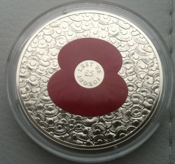 Coin > 5 pounds, 2014 - Jersey  (Remembrance Day) - obverse