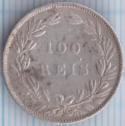 Монета > 100рейса, 1864-1889 - Португалия  - reverse