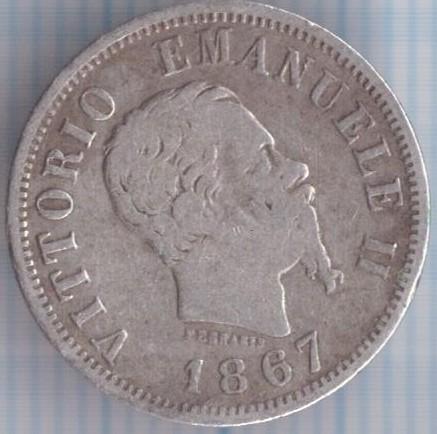50 centesimi 1867 italia km 14 catalogo coniazioni for Moneta 50 centesimi