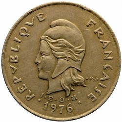 Монета > 100франков, 1976-2005 - Новая Каледония  - obverse