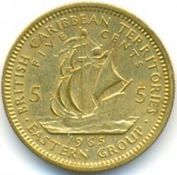 Pièce > 5cents, 1955-1965 - Caraïbe Orientale  - obverse