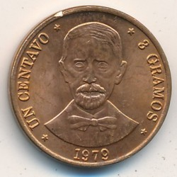 מטבע > 1סנטאבו, 1978-1981 - הרפובליקה הדומיניקנית  - obverse