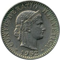 Moneda > 20rappen, 1952 - Suïssa  - obverse