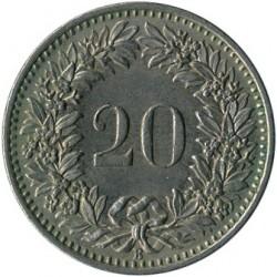 Moneda > 20rappen, 1952 - Suïssa  - reverse
