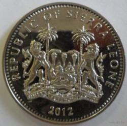 Moneda > 1dólar, 2012 - Sierra Leona  (XXX Juegos Olímpicos de Verano, Londres 2012 - Tiro con arco) - obverse