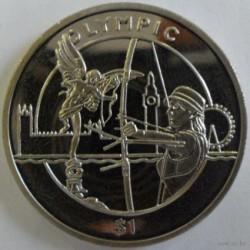 Moneda > 1dólar, 2012 - Sierra Leona  (XXX Juegos Olímpicos de Verano, Londres 2012 - Tiro con arco) - reverse