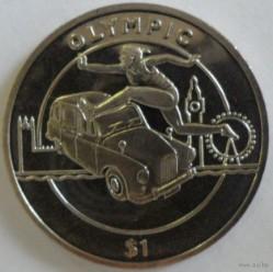 Moneda > 1dólar, 2012 - Sierra Leona  (XXX Juegos Olímpicos de Verano, Londres 2012 - Carreras de vallas) - obverse