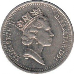 Moneda > 10peniques, 1992-1997 - Gibraltar  - obverse