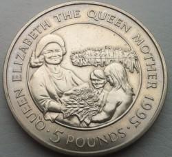 العملة > 5جنية, 1995 - آلدرني  (95th Anniversary - Birth of Queen Mother) - reverse