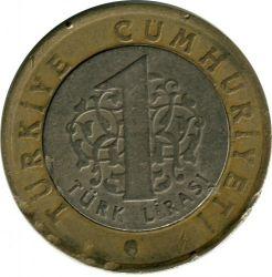 Монета > 1лира, 2009 - Турция  - obverse