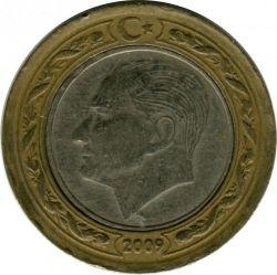 Монета > 1лира, 2009 - Турция  - reverse
