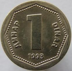 Münze > 1Dinar, 1993 - Jugoslawien  - reverse