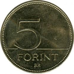 Moneta > 5forintai, 2012-2017 - Vengrija  - obverse