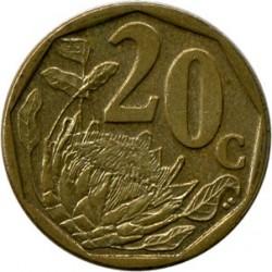 Moneta > 20centów, 2009-2012 - Afryka Południowa  - reverse