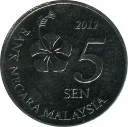 Coin > 5sen, 2011-2019 - Malaysia  - obverse