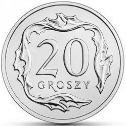 Coin > 20groszy, 2017-2018 - Poland  - reverse