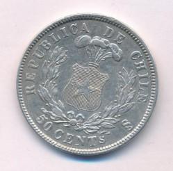 Moneta > 50centavos, 1867-1872 - Cile  - reverse