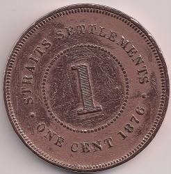 Moneta > 1centesimo, 1872-1883 - Insediamenti dello Stretto  - reverse