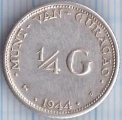 Monēta > ¼guldenis, 1944-1947 - Kirasao  - reverse