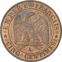 Coin > 5centimes, 1853-1857 - France  - reverse