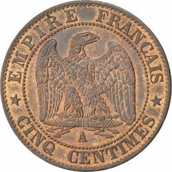 Moneta > 5centesimi, 1853-1857 - Francia  - reverse