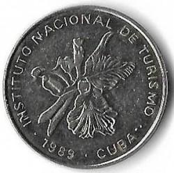 Монета > 25сентаво, 1989 - Куба  (INTUR: магнітна) - obverse