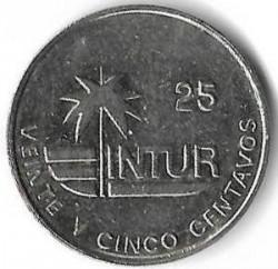 Монета > 25сентаво, 1989 - Куба  (INTUR: магнітна) - reverse