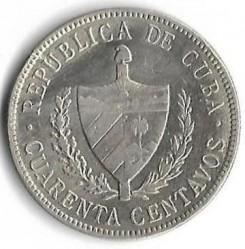 Monēta > 40sentavo, 1915-1920 - Kuba  - obverse