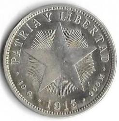 Coin > 40centavos, 1915-1920 - Cuba  - reverse