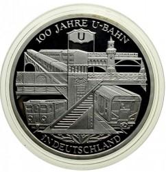 Moeda > 10euro, 2002 - Alemanha  (Centenário do Metro de Berlim) - reverse