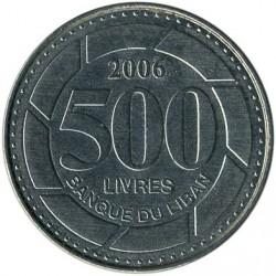 Coin > 500livres, 1995-2009 - Lebanon  - reverse
