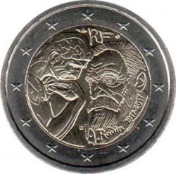Moneta > 2euro, 2017 - Francja  (100 rocznica śmierci - Auguste Rodin) - obverse