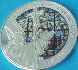Moneta > 100franków, 2014 - Togo  (Kanonizacja Papieża Jana Pawła II /Urodziny Jezusa/) - obverse