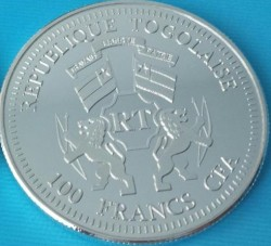 Moneta > 100franków, 2014 - Togo  (Kanonizacja Papieża Jana Pawła II /Urodziny Jezusa/) - reverse