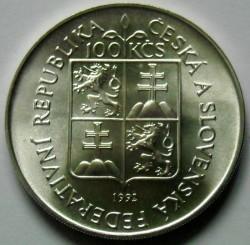 Moneta > 100corone, 1992 - Cecoslovacchia  (175° anniversario - Museo della Moravia in Brno) - obverse
