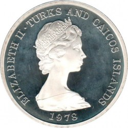 Coin > 20crowns, 1978 - Turks and Caicos Islands  (1978 Commonwealth Games) - obverse
