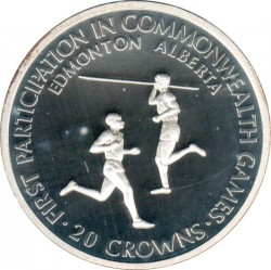 Coin > 20crowns, 1978 - Turks and Caicos Islands  (1978 Commonwealth Games) - reverse