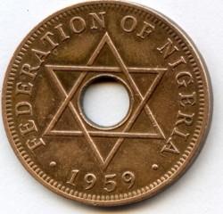 Монета > 1пенни, 1959 - Нигерия  - reverse