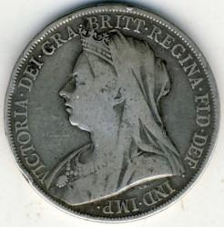 Moneta > 1korona, 1893-1900 - Wielka Brytania  - obverse