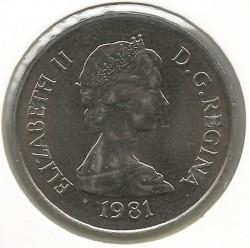 Монета > ½крони, 1981 - Острови Теркс і Кайкос  - obverse