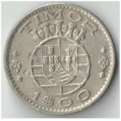 Monēta > 1eskudo, 1958 - Portugāļu Austrumtimora  - obverse