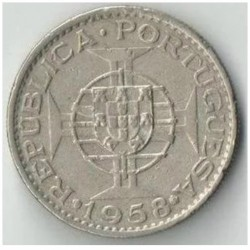 Monēta > 1eskudo, 1958 - Portugāļu Austrumtimora  - reverse