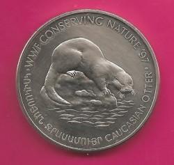 Moneda > 100dram, 1997 - Armenia  (WWF Conservación de la Naturaleza '97 - Nutria caucásica) - obverse