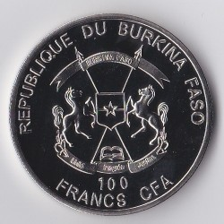 Монета > 100франков, 2017 - Буркина Фасо  (Чемпионат мира по футболу 2018, Россия) - obverse