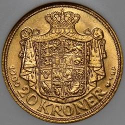 Coin > 20kroner, 1909 - Denmark  - obverse