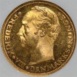 Coin > 20kroner, 1909 - Denmark  - reverse